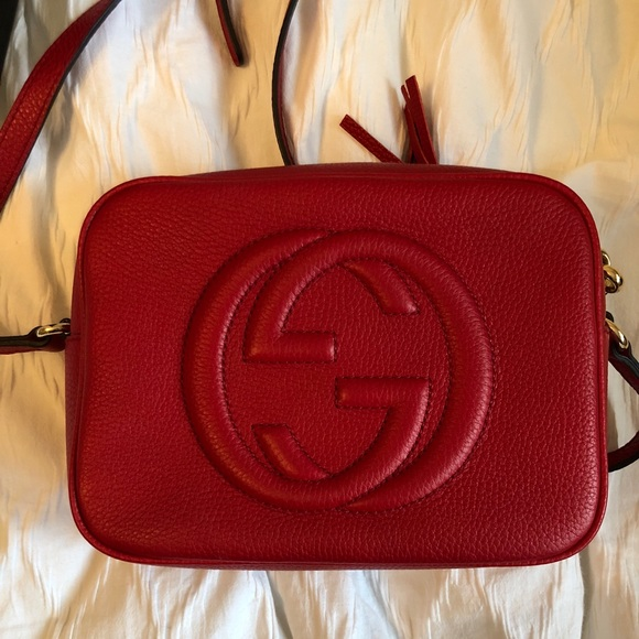 Gucci Handbags - Gucci Soho Disco Bag in Red